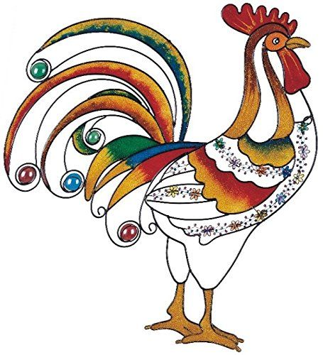 Stealstreet Wall Decorations Transpa Rooster Decoration With Gem Stones Check This Awesome Product By Going To The Link At Image