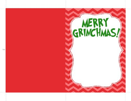 The Grinch Handprint Christmas Card With Printable I Heart Arts N Crafts Christmas Photo Card Template Christmas Card Template Free Christmas Photo Card Templates