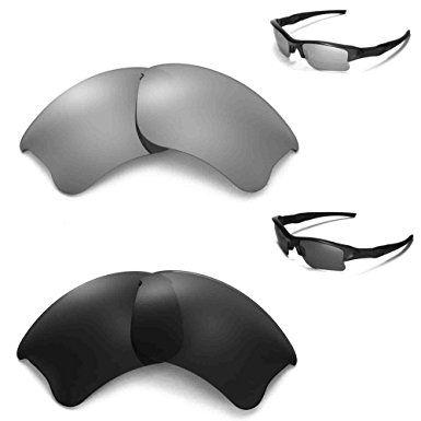 56d92e5466 New Walleva Polarized Black + Titanium Lenses For Oakley Flak Jacket XLJ  Review