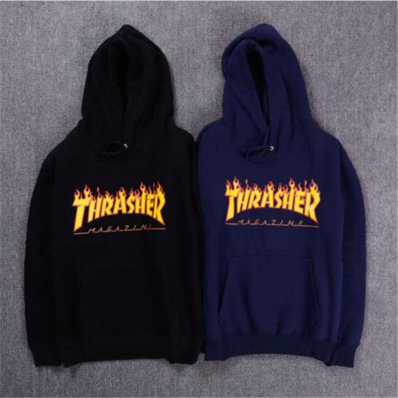 Fashion Mens hoodie sweater Hip-hop skateboard Thrasher Women Sweatshirts 81f59d2e43