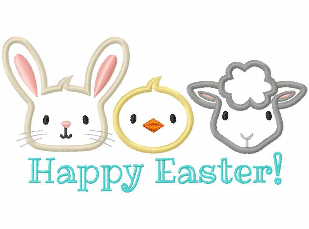 Hang to Dry Applique - Easter Pals Trio, $1.00 (http://www.hangtodryapplique.com/easter-pals-trio/)