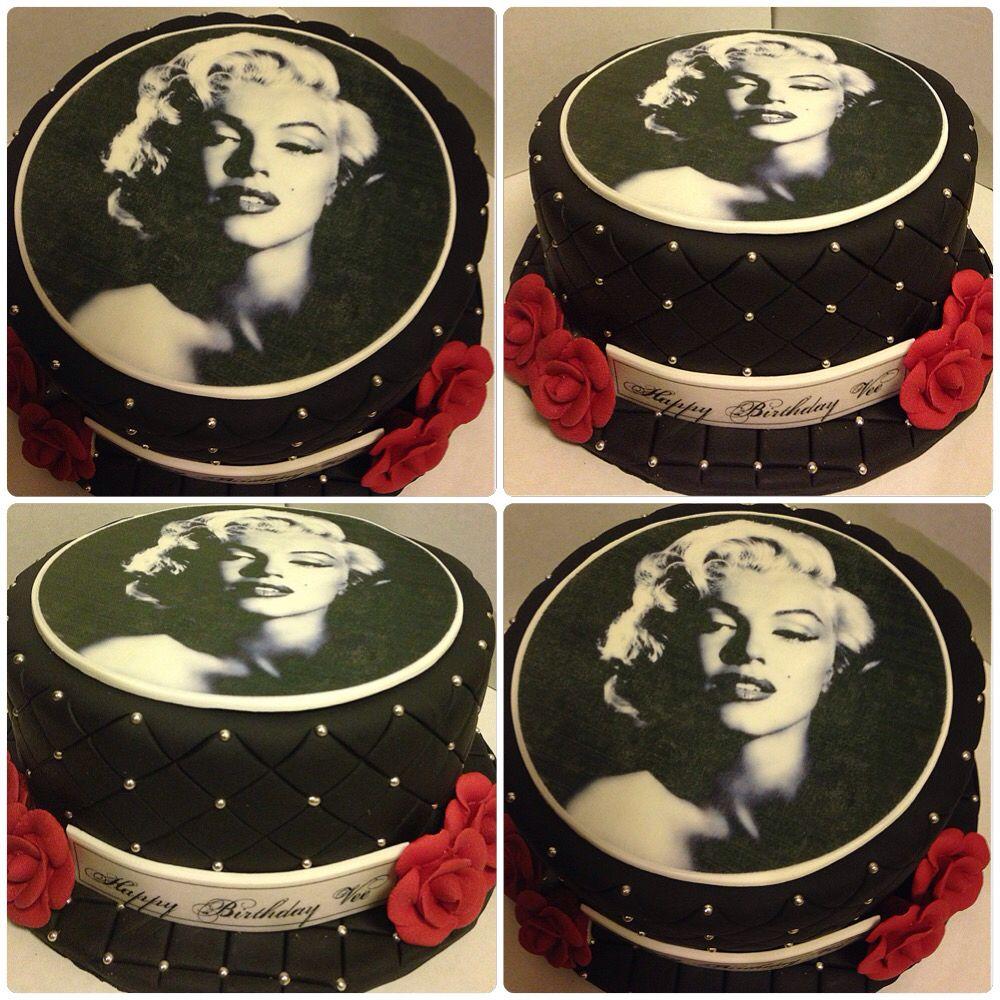 Marilyn Monroe Birthday Cake By Sugarfetishcakery Marilyn Monroe