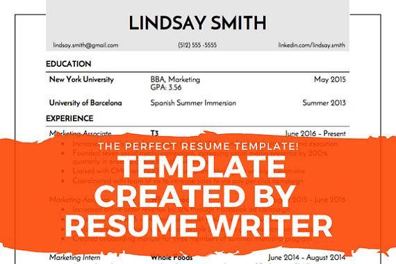 Modern Resume Template / CV + Cover Letter + Reference Modern