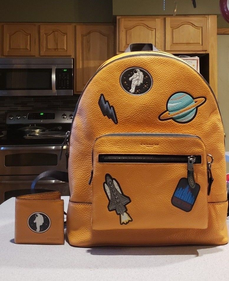 a9c13e4288b Coach Men s Leather backpack (NASA Collection)  limited run   fashion   clothing  shoes  accessories  womensbagshandbags