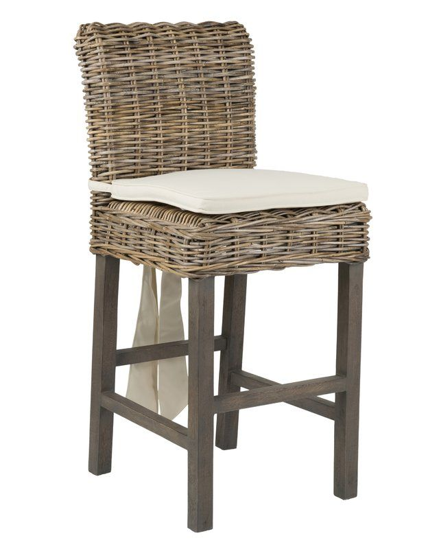 Harlee 26 Quot Patio Bar Stool With Cushion Rattan Counter
