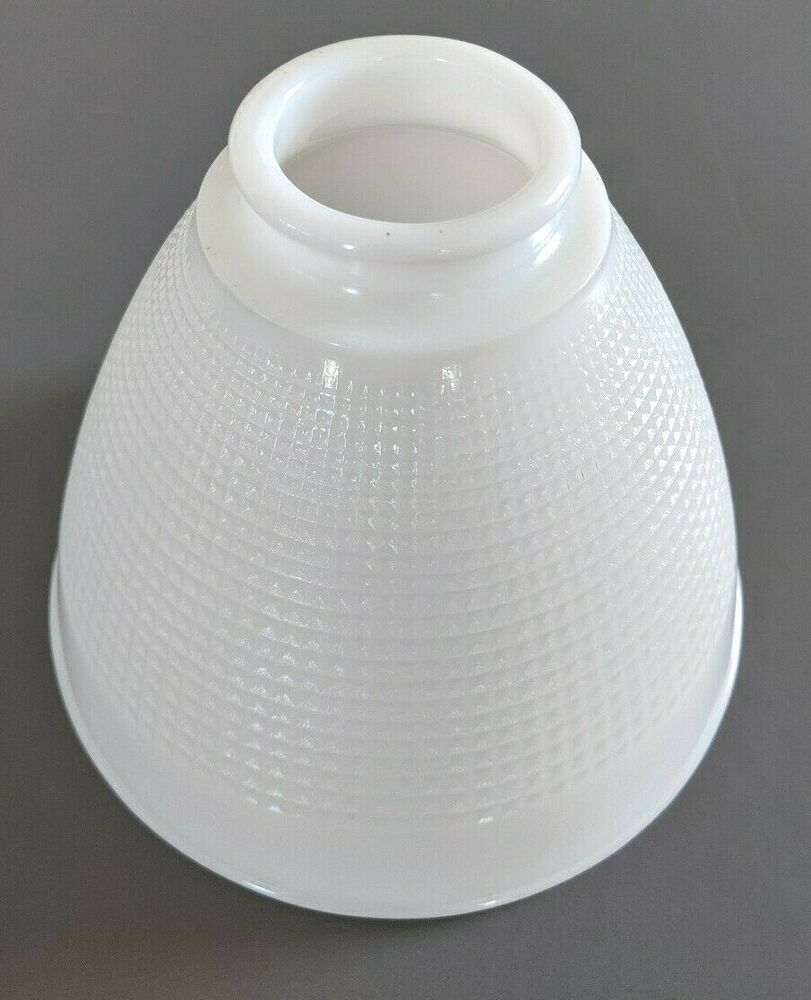 Vintage Milk Glass Waffle Weave Diffuser Torchiere Lamp Shade 4 75 High Torchiere Lamp Shade Waffle Weave Torchiere Lamp