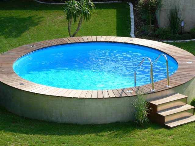 Stahlwandpool rund Stahlwand Rundbecken in 2020 | Swimming pools backyard  inground, Swimming pools backyard landscape, Pool landscaping