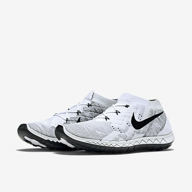 Nike Flyknit Free 3.0 Chaussures Hommes Blanc