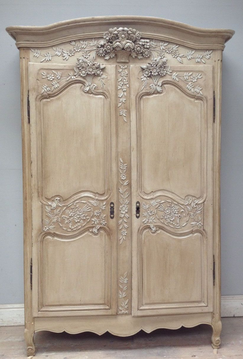 Beautiful Old French Normandy Armoire / Circa 1860s / Frenchfinds.co.uk /  French