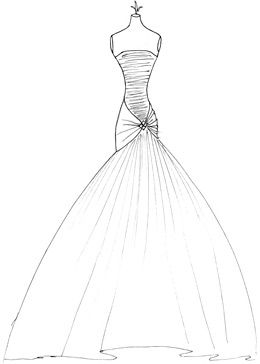 wedding dress sketches | Wedding 05 in 2019 | Wedding ...