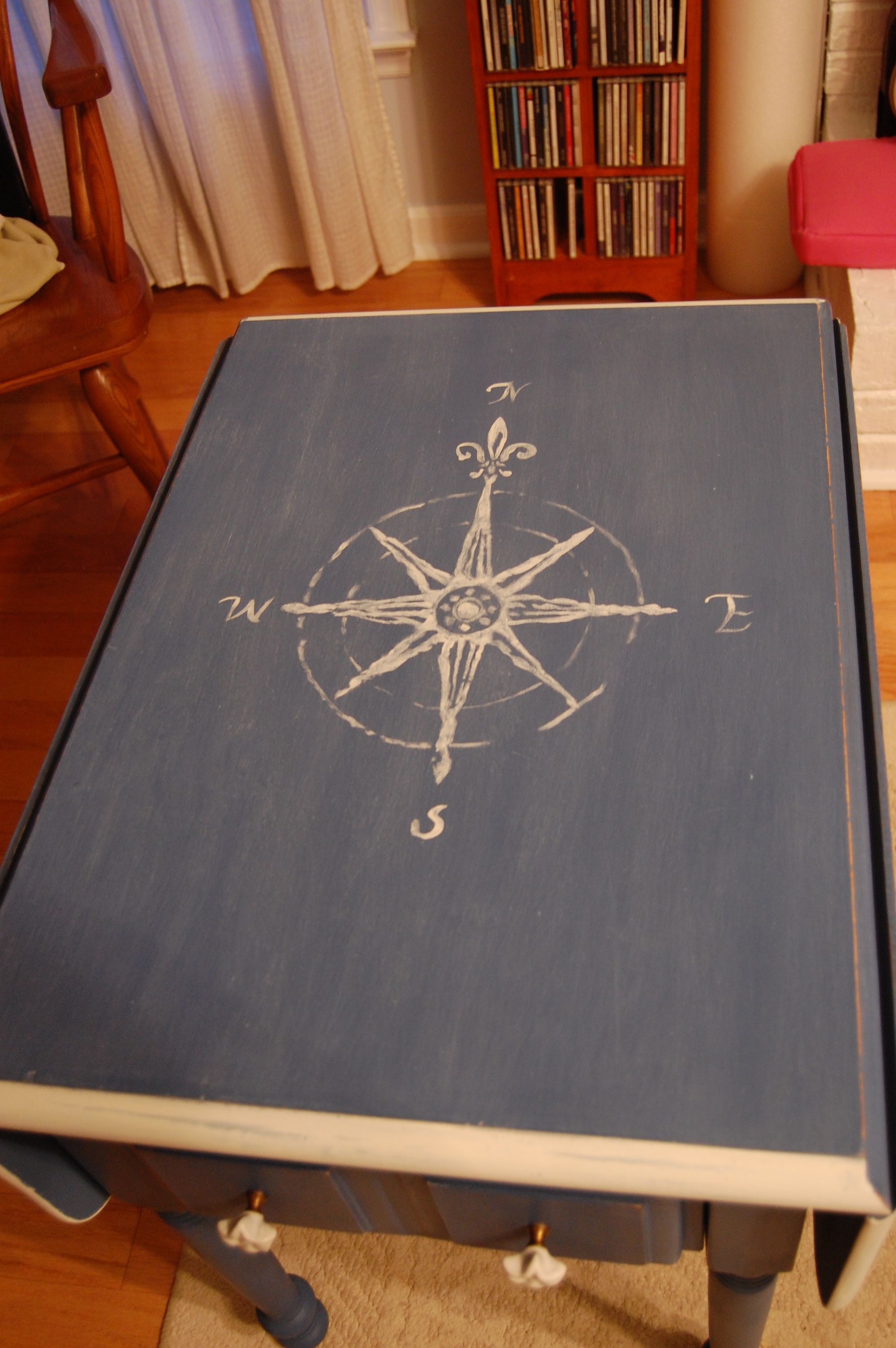 Hmmm, Maybe I Could Embroider A Compass Rose On A