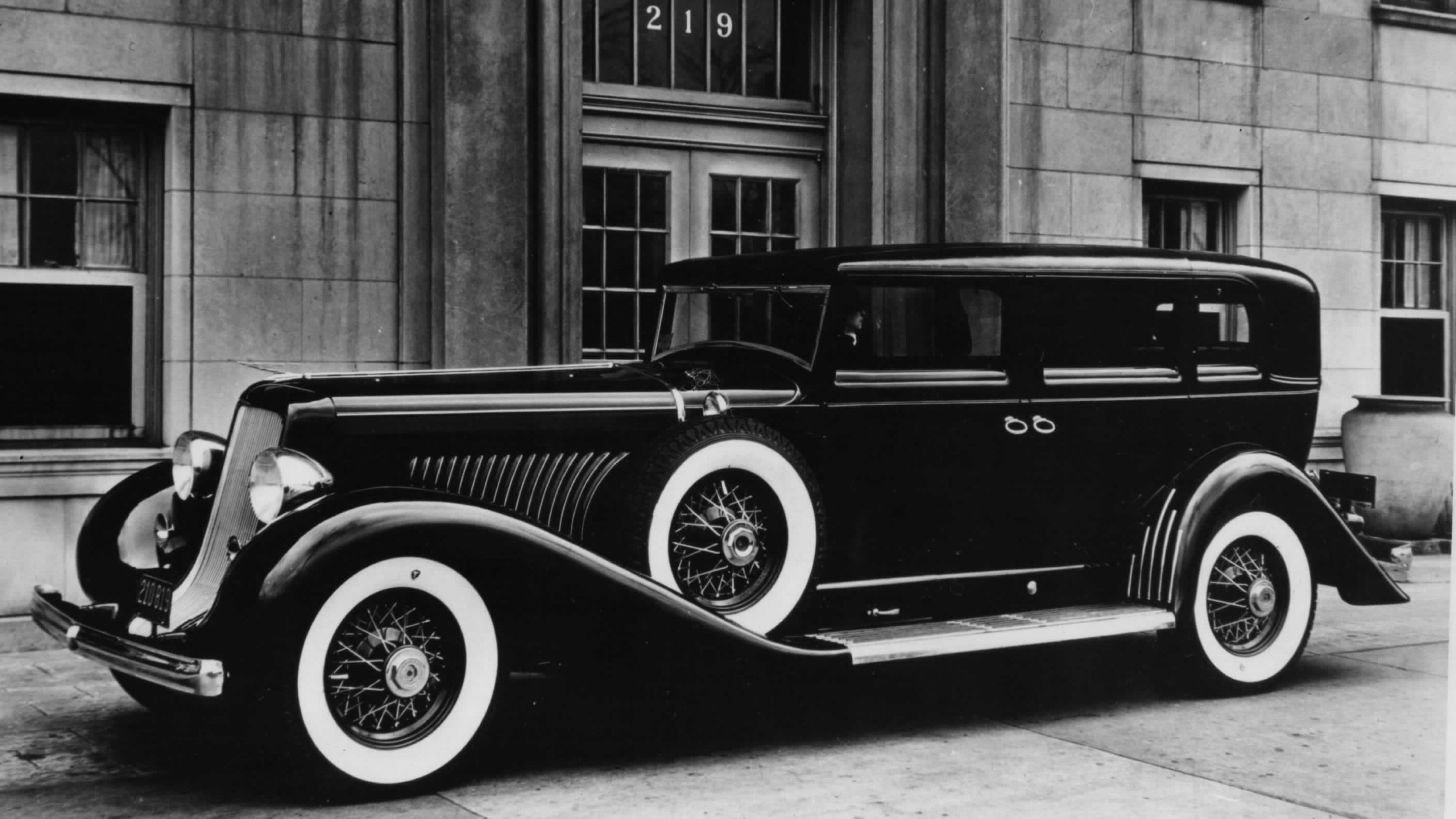Duesenberg Car Vintage Black White Jpg