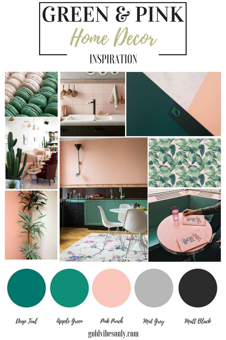 The New Classic Green And Pink Interior Home Decor Pink Home