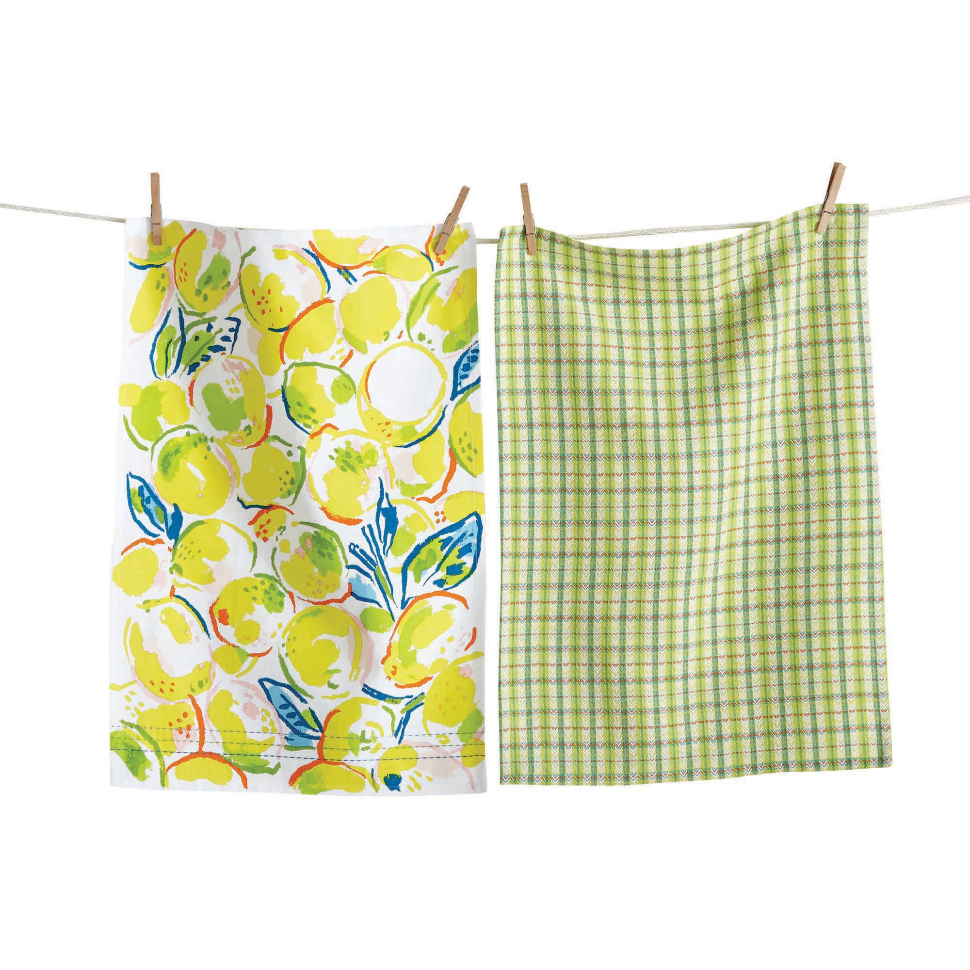 Lemons Dishtowel S 2 Dish Towel Set Dish Towels Towel Set