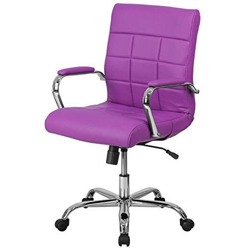 Contemporary Executive Mid-Back Computer Desk Task Chair