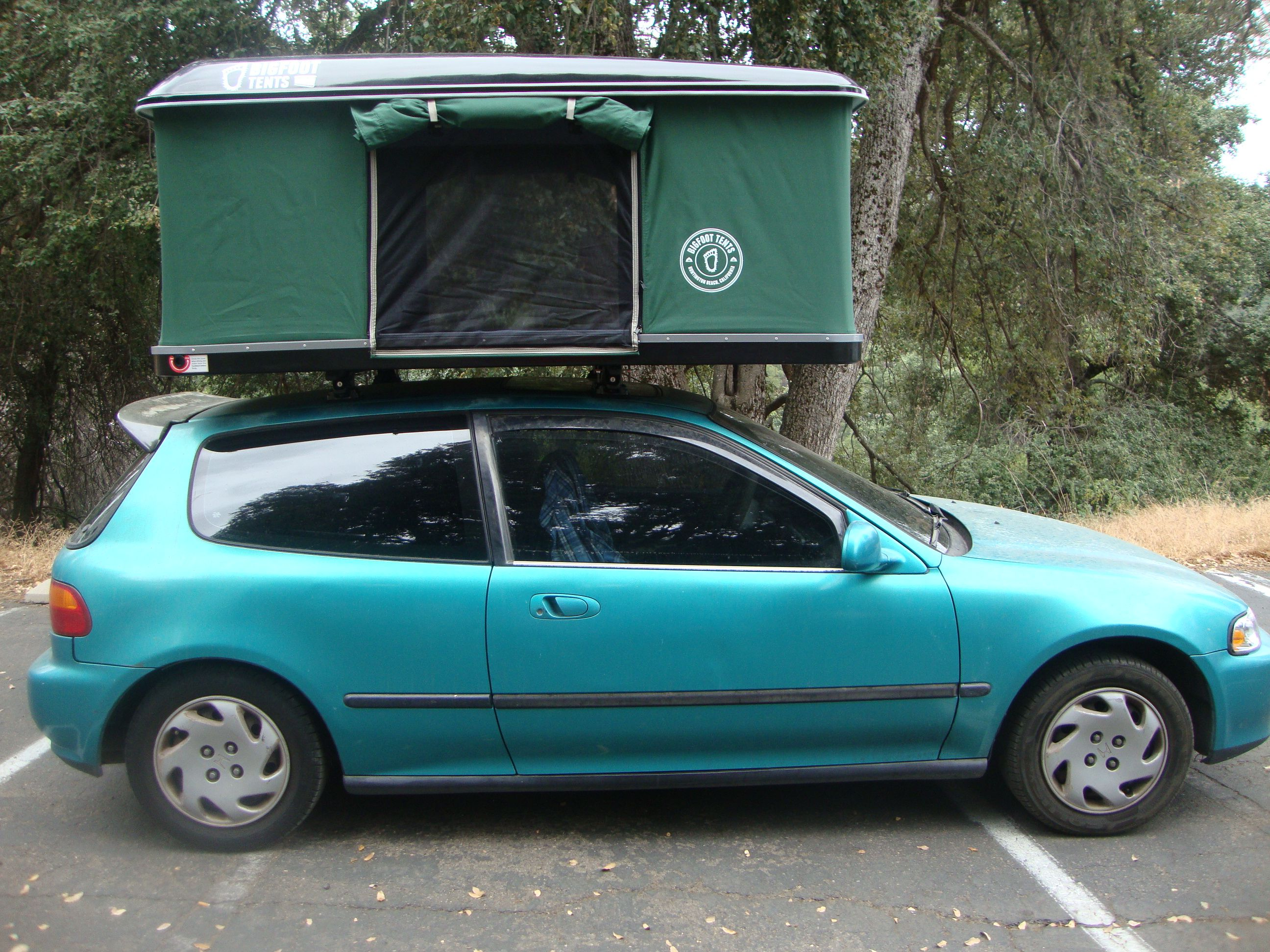 A prefect ex&le of a Bigfoot Roof Top Tent installed on a  classic  Honda & A prefect example of a Bigfoot Roof Top Tent installed on a ...