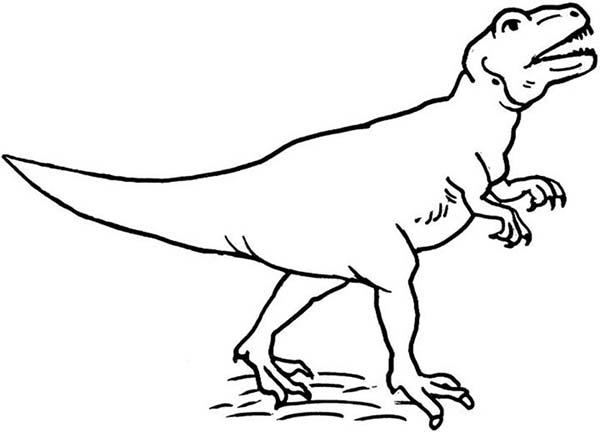 Pin oleh KidsPlayColor di Allosaurus Coloring Pages
