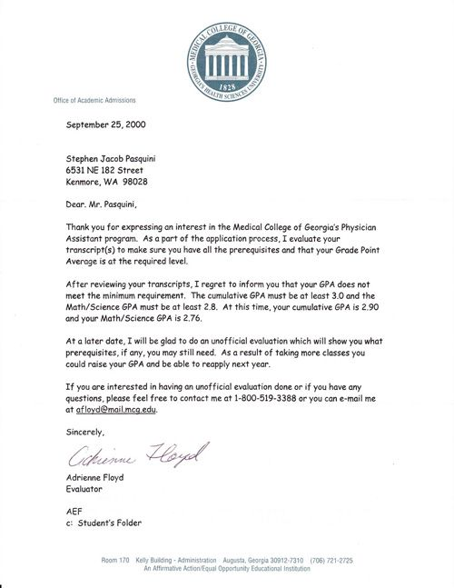 My PA School Rejection Letters \u2013 How to Turn Your \u0027Set Back\u0027 into a