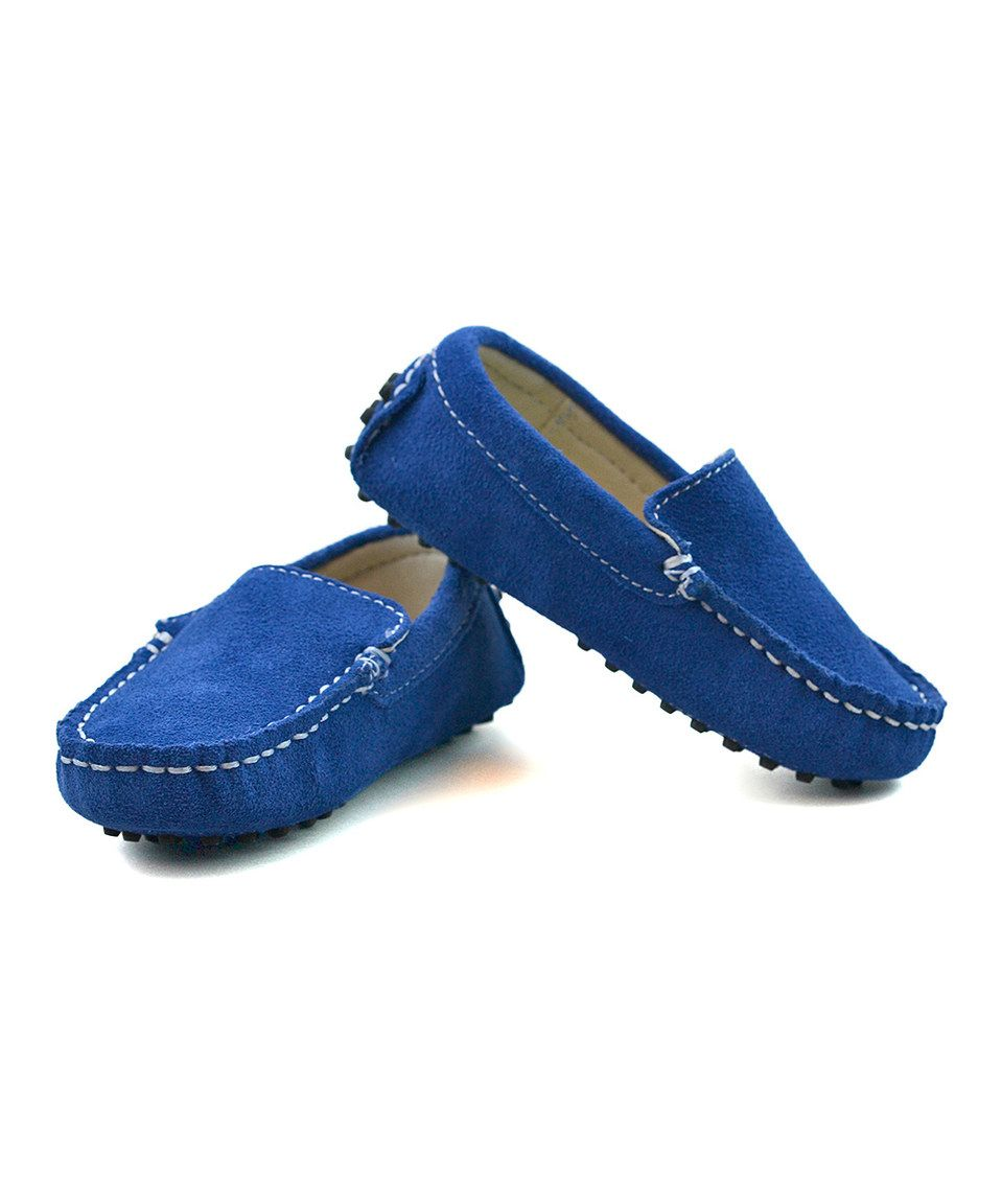 5da714c894b45 Look at this #zulilyfind! Royal Blue Suede Loafers - Infant, Toddler & Boys  by Littlest Prince Couture #zulilyfinds