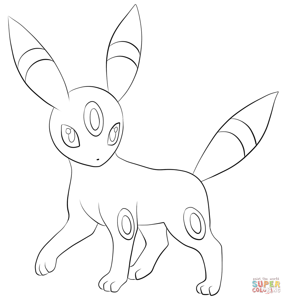 Umbreon Coloring Page From Generation II Pokemon Category Select 23049 Printable Crafts Of Cartoons Nature Animals Bible And Many More