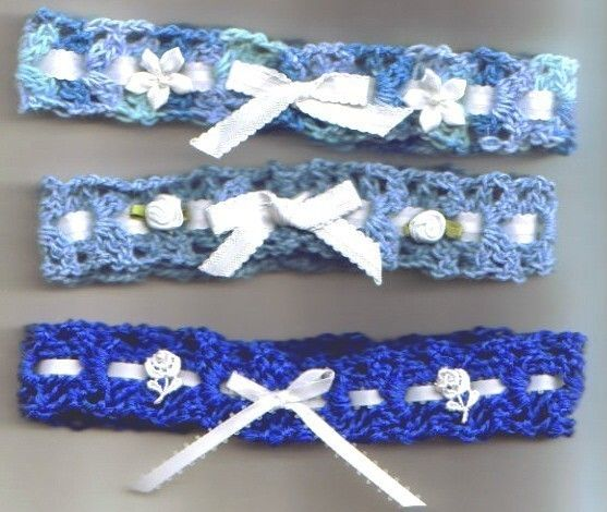 Pdf Something Borrowed Something Blue Bridal Garter Crochet Pattern Something Blue Bridal Bridal Garter Blue Bridal Garter