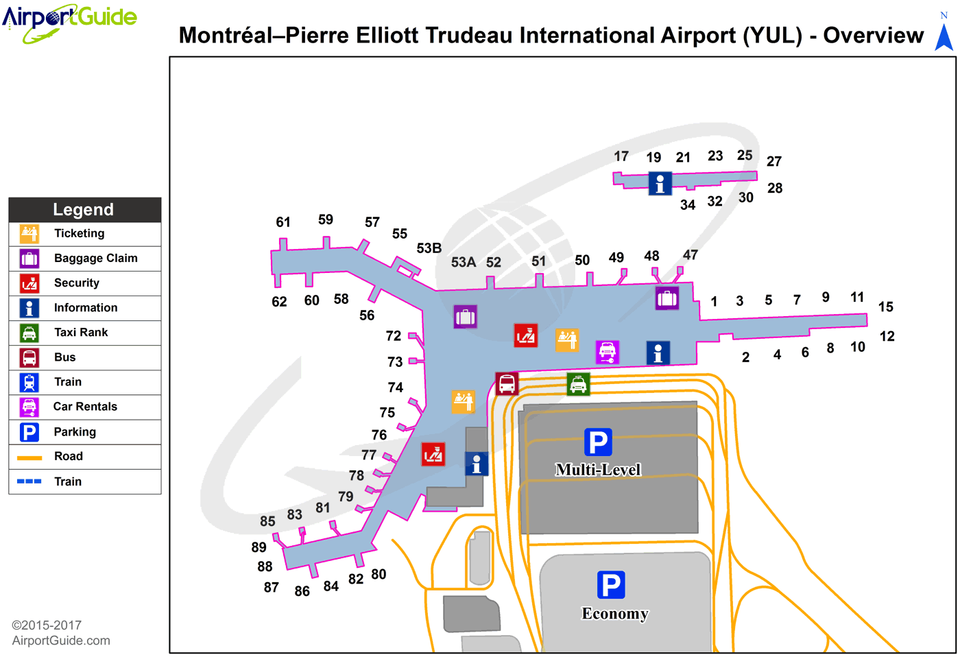 Montreal Airport Map Montreal   Montreal / Pierre Elliott Trudeau International Airport