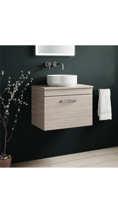 Peachy Drench Emily 600Mm Wall Mounted 1 Drawer Vanity Unit And Download Free Architecture Designs Meptaeticmadebymaigaardcom