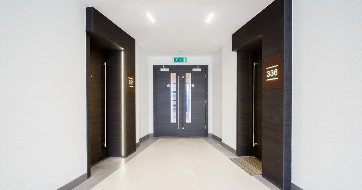 Vicaima was chosen to enhance the apartment entrance doors of this ...