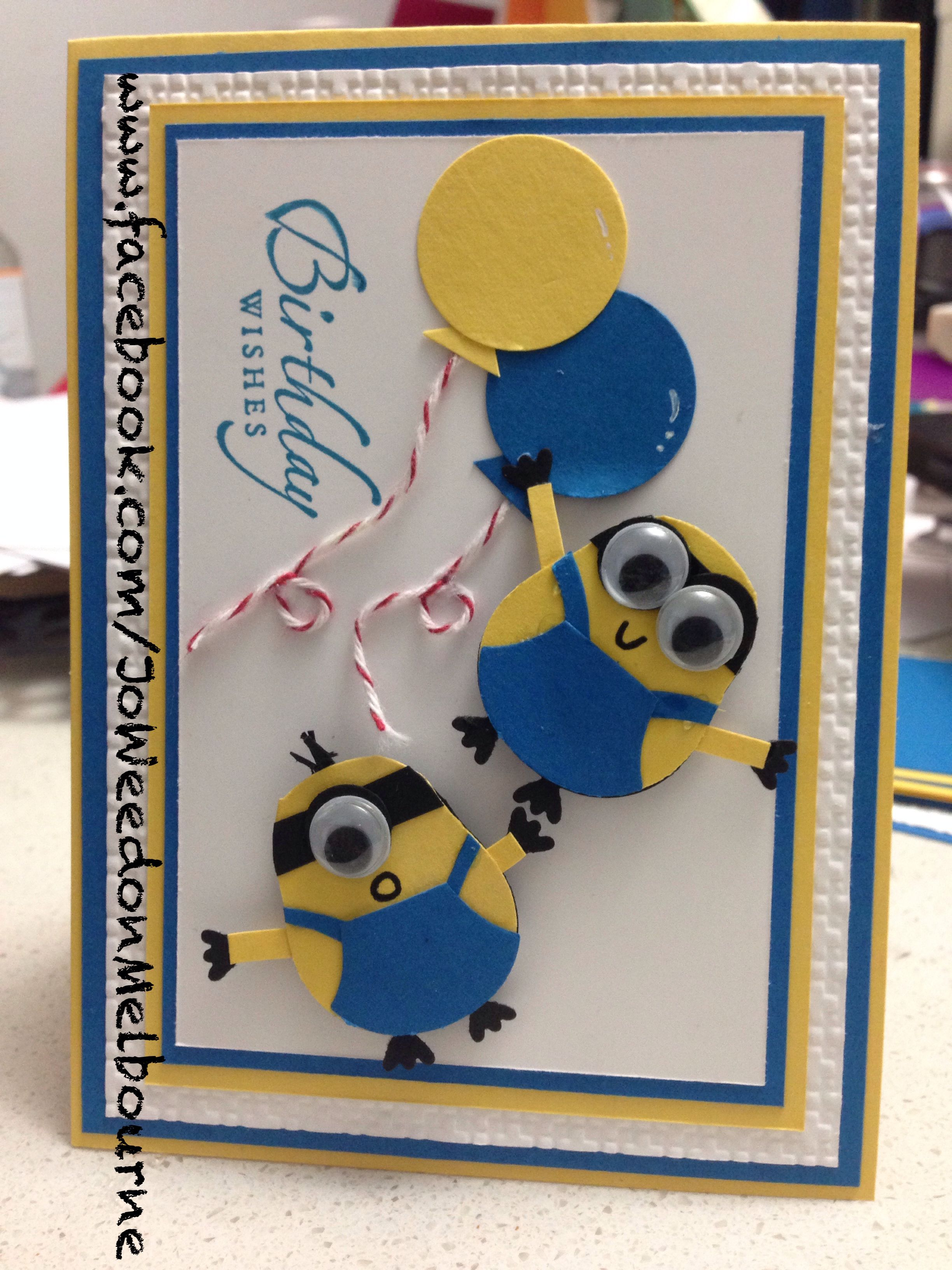 f2263d7bd Looks like the owl punch... have to try it. Stampin' Up! Punch Art Despicable  Me! Minion Hand-Made