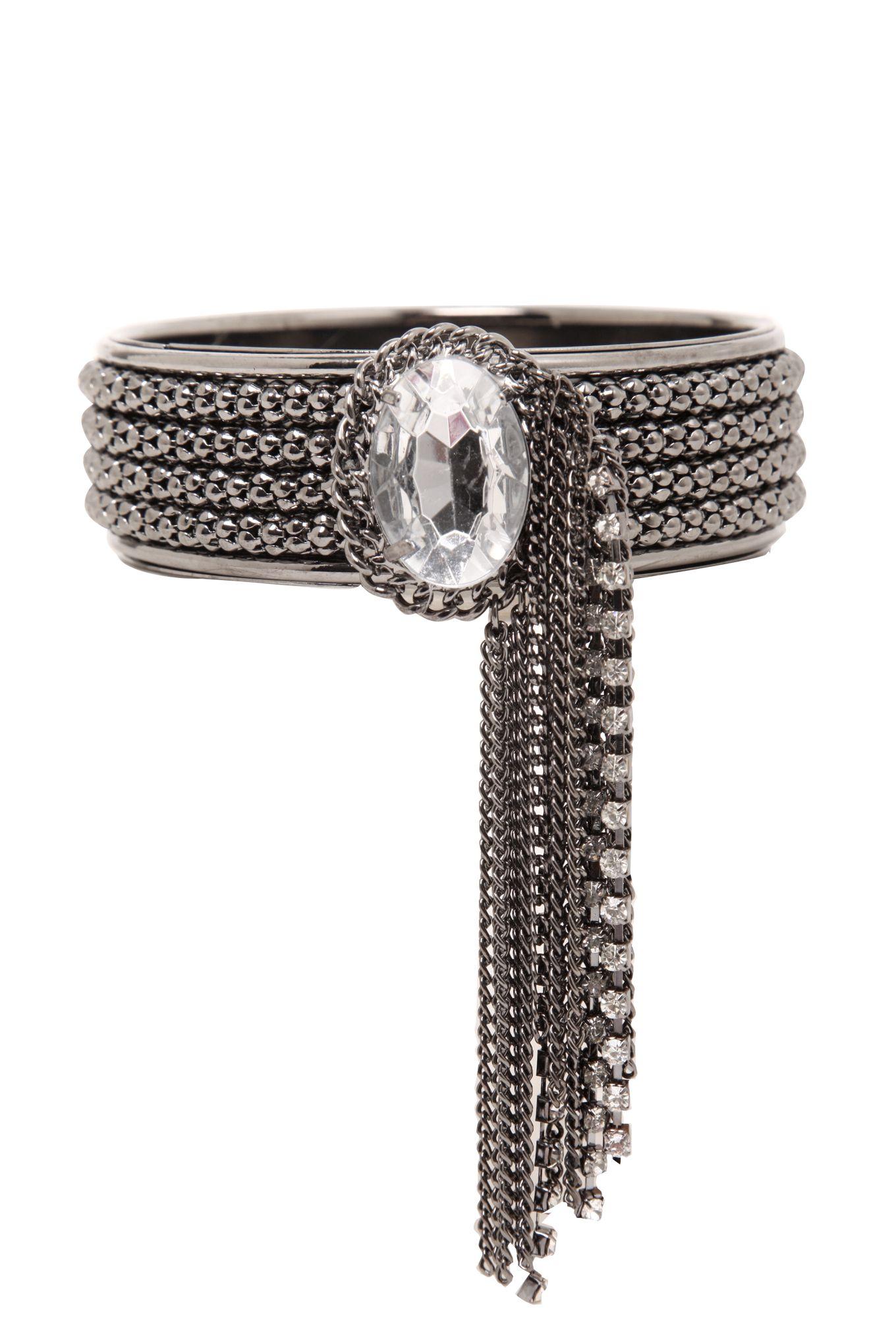 Hematite Rhinestone Chain Bracelet | Torrid