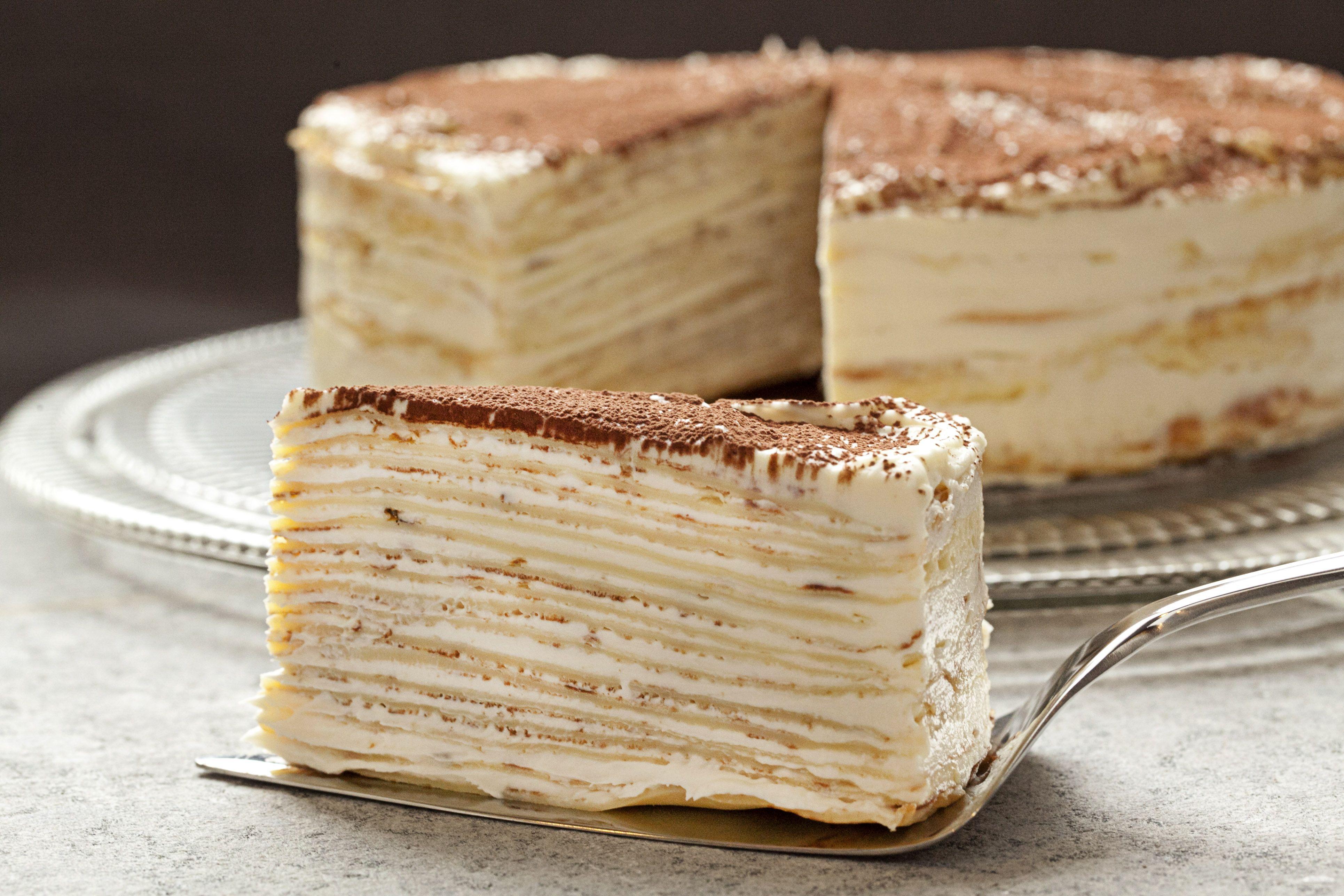 Astounding Mille Crepe Tiramisu Birthday Cake Recipe Desserts Cake Funny Birthday Cards Online Necthendildamsfinfo