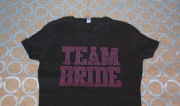 Team Bride Rhinestone T-Shirt - Team Bride Shirt - Team Bride Bling Shirt - Bachelorette Shirt