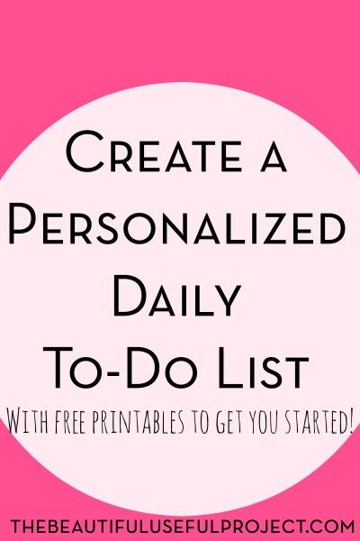 create a personalized daily to do list thrifty thursday lwsl