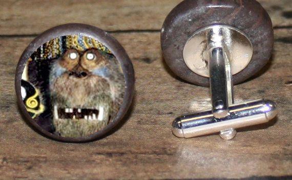 Gustav Klimt GORILLA tie tack or ring or pendant or by AlteredEtc