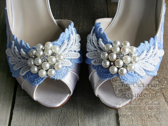 Merveilleux Items Similar To SOMETHING FRENCH BLUE Vintage Lace Shabby Chic Peep Toe  Ivory Bridal Shoes With Low Heel, Wedding Shoes, Made To Order Sizes 5   12  On Etsy