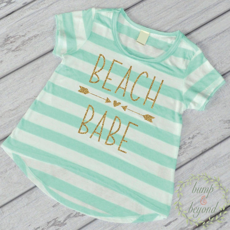 Beach Babe Shirt Beach Shirt Kids Beach Shirt Baby Girl Clothes