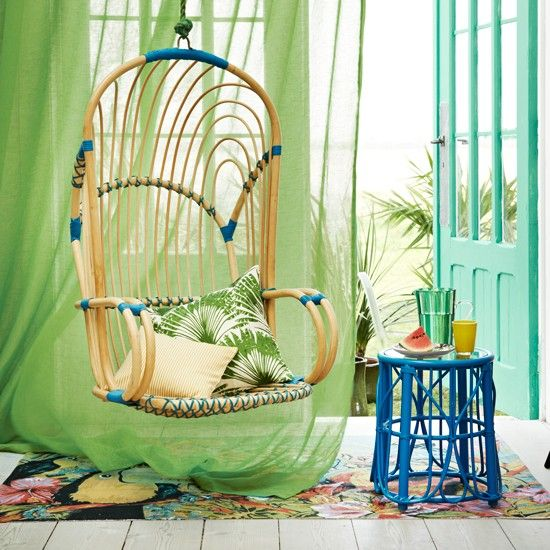 Bright And Colorful Rooms Tropical Style: Tropical Decorating Ideas