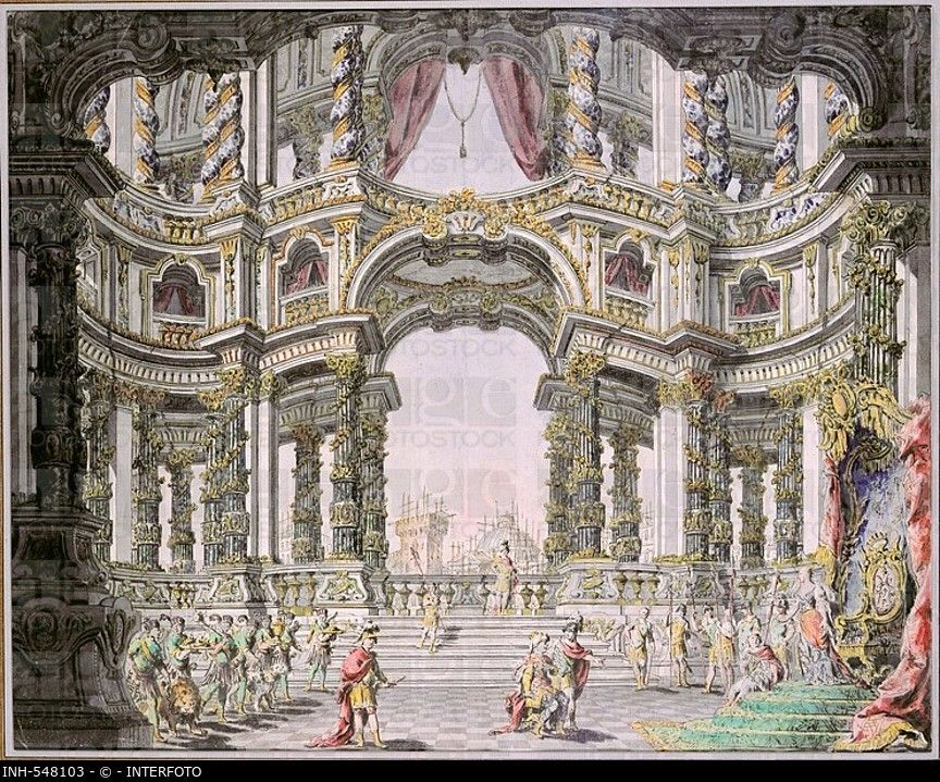 Fine arts da bibiena giuseppe galli 1696 1757 stage design for the