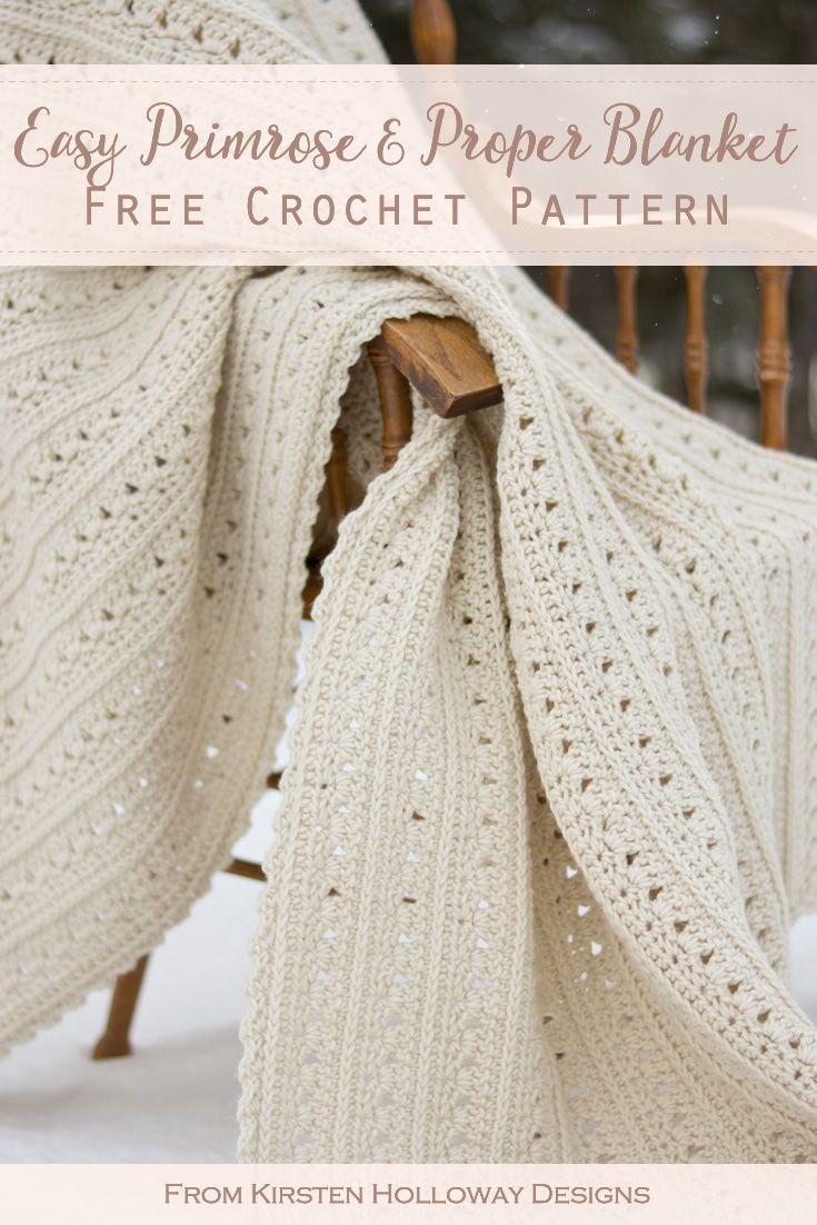 Easy Crochet Blanket Pattern for Beginners