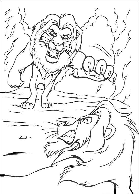 Dibujos para colorear El Rey Leon 6 | Color Me Happy | Pinterest ...