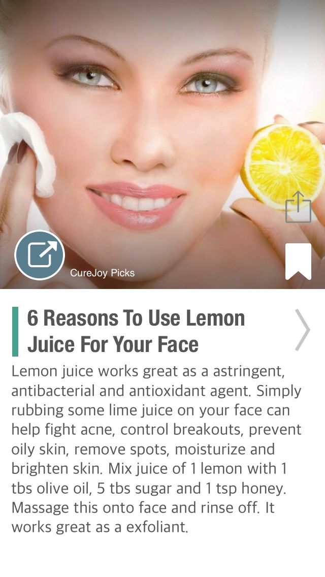 6 Reasons To Use Lemon Juice For Your Face - via @CureJoy