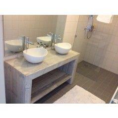 Badkamermeubel van steigerhout Enschede - Wastafels - Badkamer