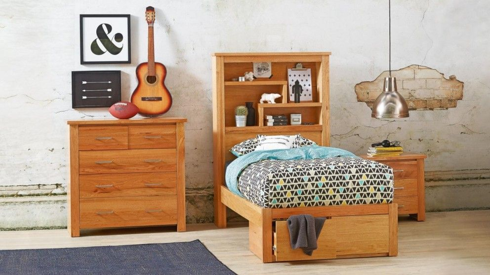 Kids Bedroom Harvey Norman cargo bed with bookcase bedhead - kids beds & suites - bedroom