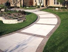 Stamped Borders, Stamped Bands Concrete Walkways Action Concrete ...