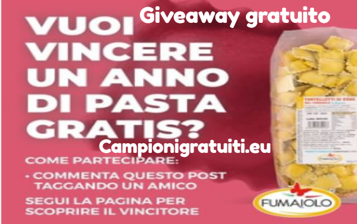 Giveaway Fumaiolo vinci una fornitura annuale di pasta