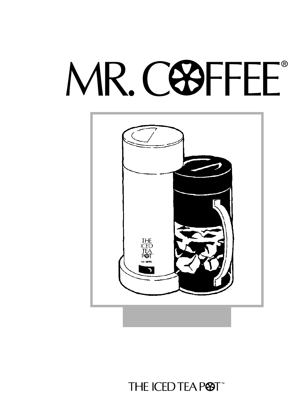 Mr. Coffee Instruction Manual iced tea maker TM1 ...