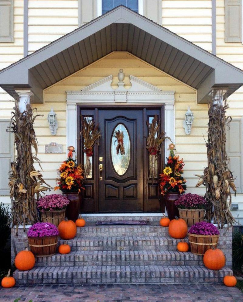 Die Terrasse Und Eingangstur Herbstlich Dekorieren Deko Ideen