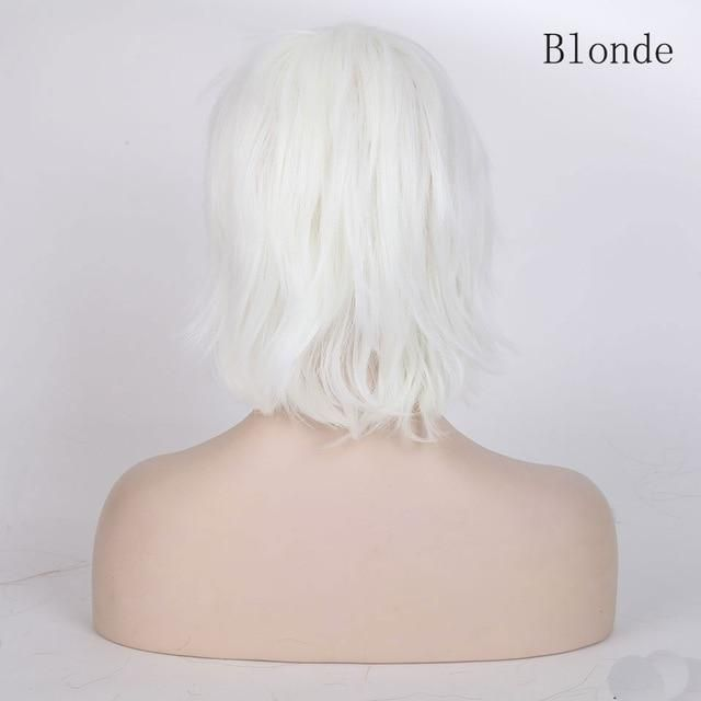 Photo of Anime Short Cosplay Wig With Bangs – blonde / 12inches