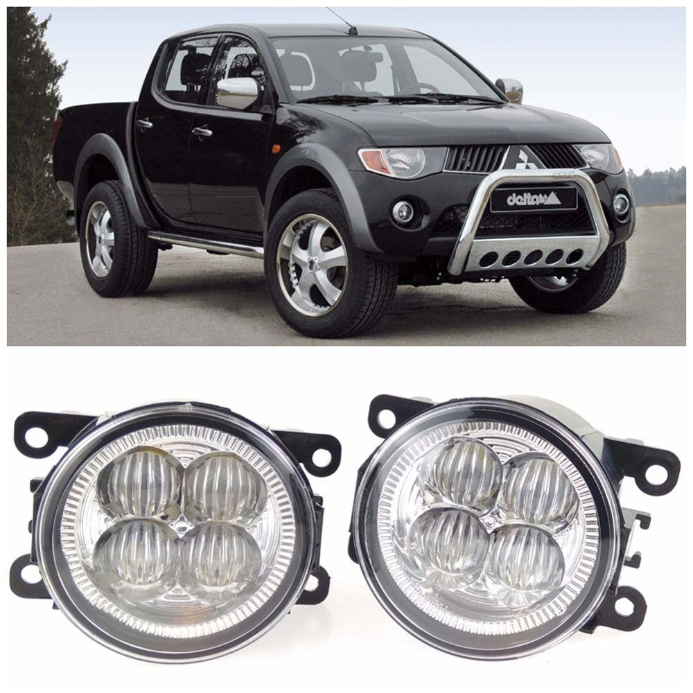 For Mitsubishi L200 Kb T Ka T Pickup 2005 2015 10w High Power High Brightness Led Set Lights Lens Fog Lamps Fog Lamps Lights Car Lights