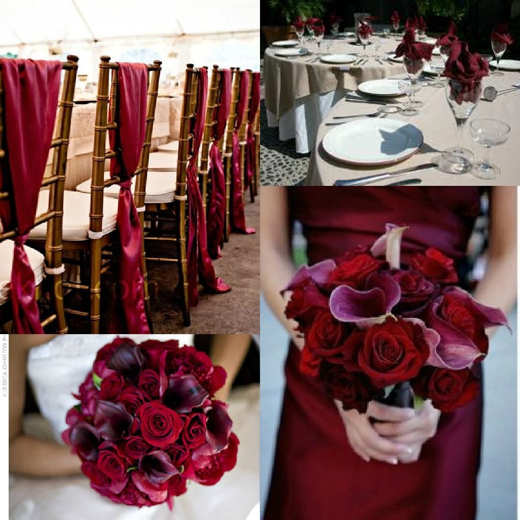 Maroon and cream wedding decor  Pin by Reva Jordan on Burgundy black gold beige ivory wedding
